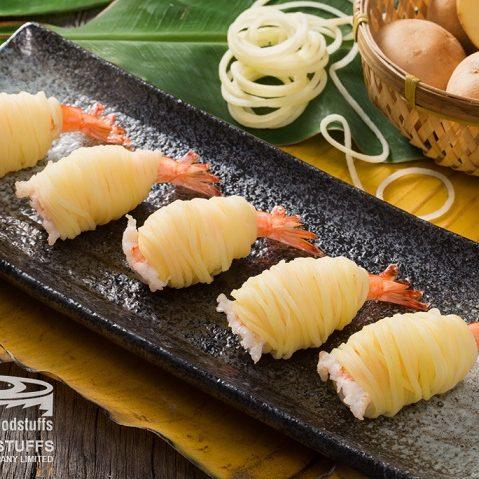 R- potato wrapped pto shrimp